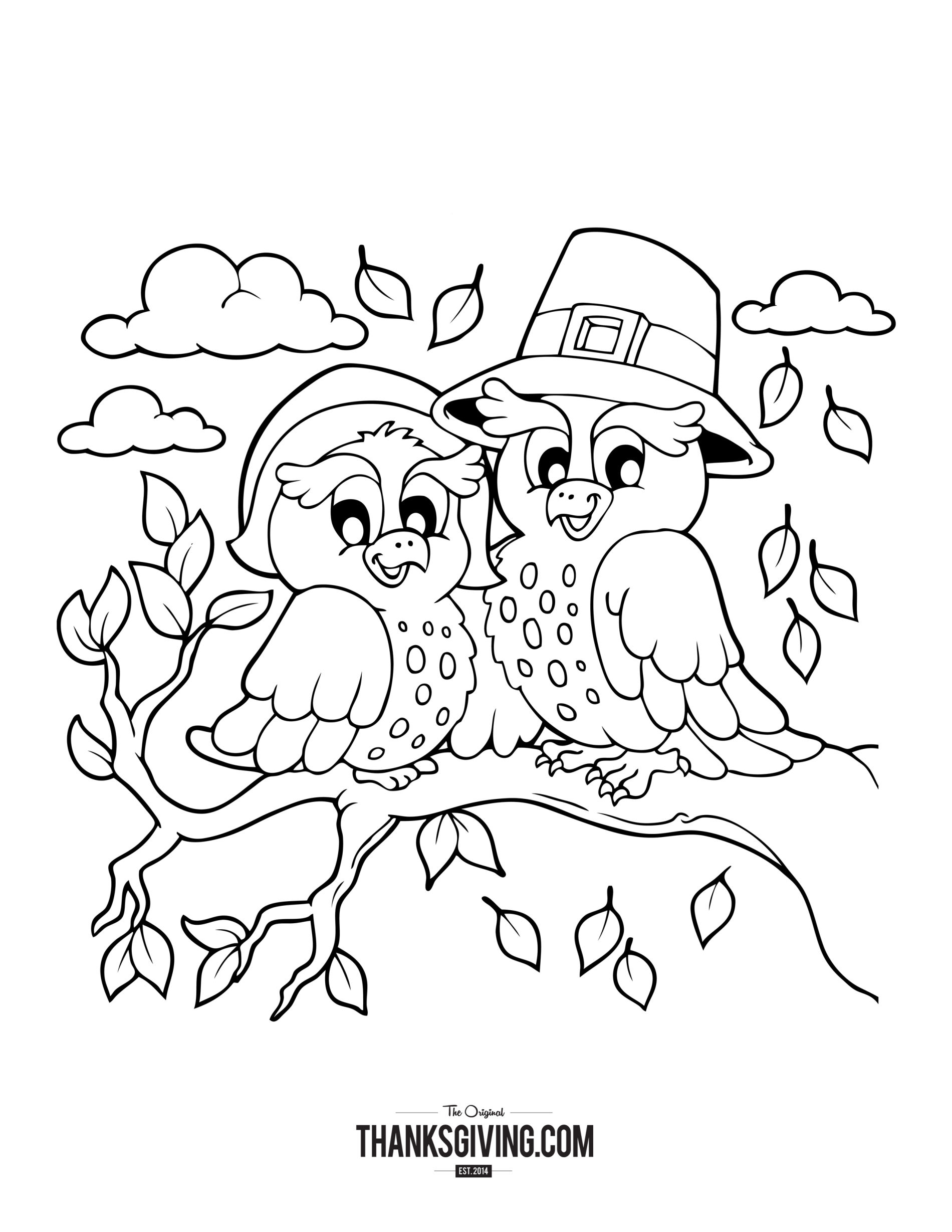 1900x2458 Thanks Giving Coloring Pages