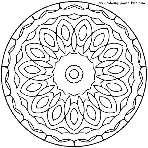 480x480 Abstract Coloring Pages For Kids Printable Mandala Coloring Sheets