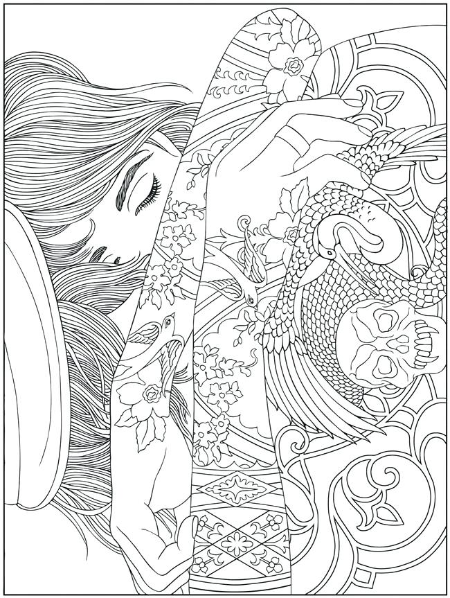 650x863 Abstract Coloring Pages To Print Printable Difficult Coloring
