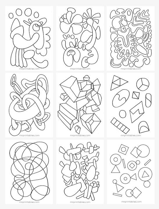 547x718 Abstract Coloring Pages For Kids