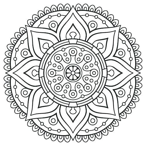 500x500 Abstract Printable Coloring Pages Mandala Printable Coloring Pages
