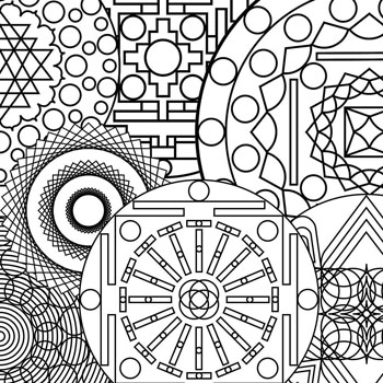 350x350 Abstract Art Coloring Pages Printable