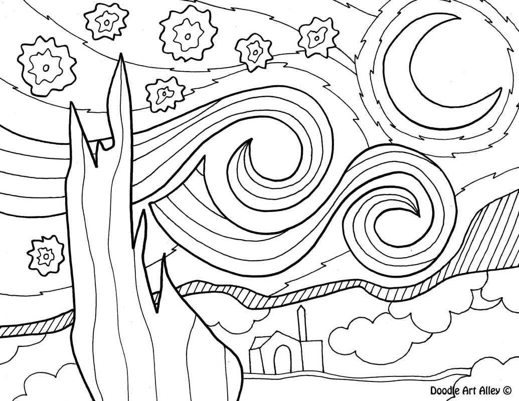 1035x800 Wonderful Art Coloring Pages Printable To Funny Abstract Coloring