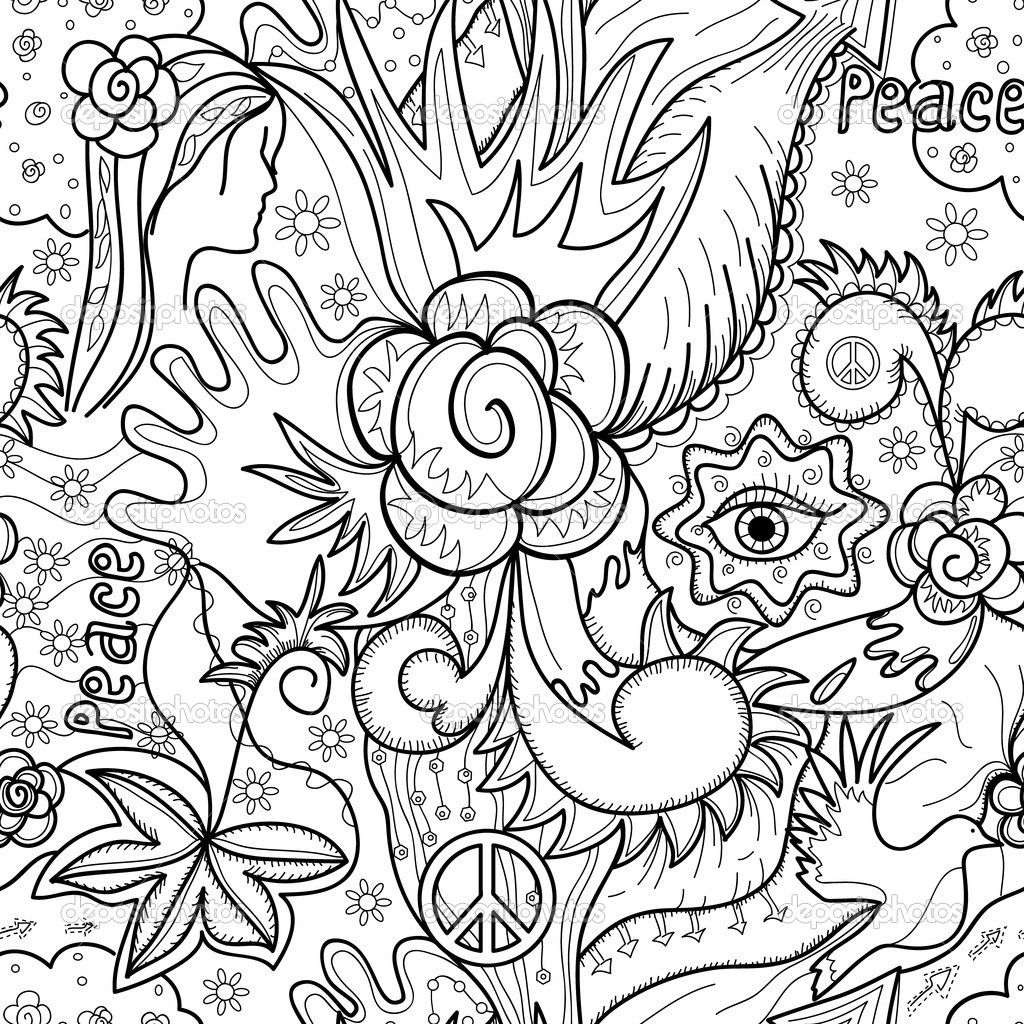 1024x1024 Abstract Coloring Pages