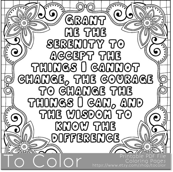 570x567 Nice Idea Free Printable Inspirational Coloring Pages Serenity