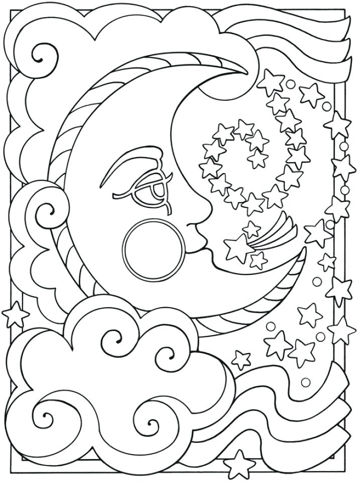 713x960 Space Coloring Pages Adults Printable Get This Sheets Pdf Murs
