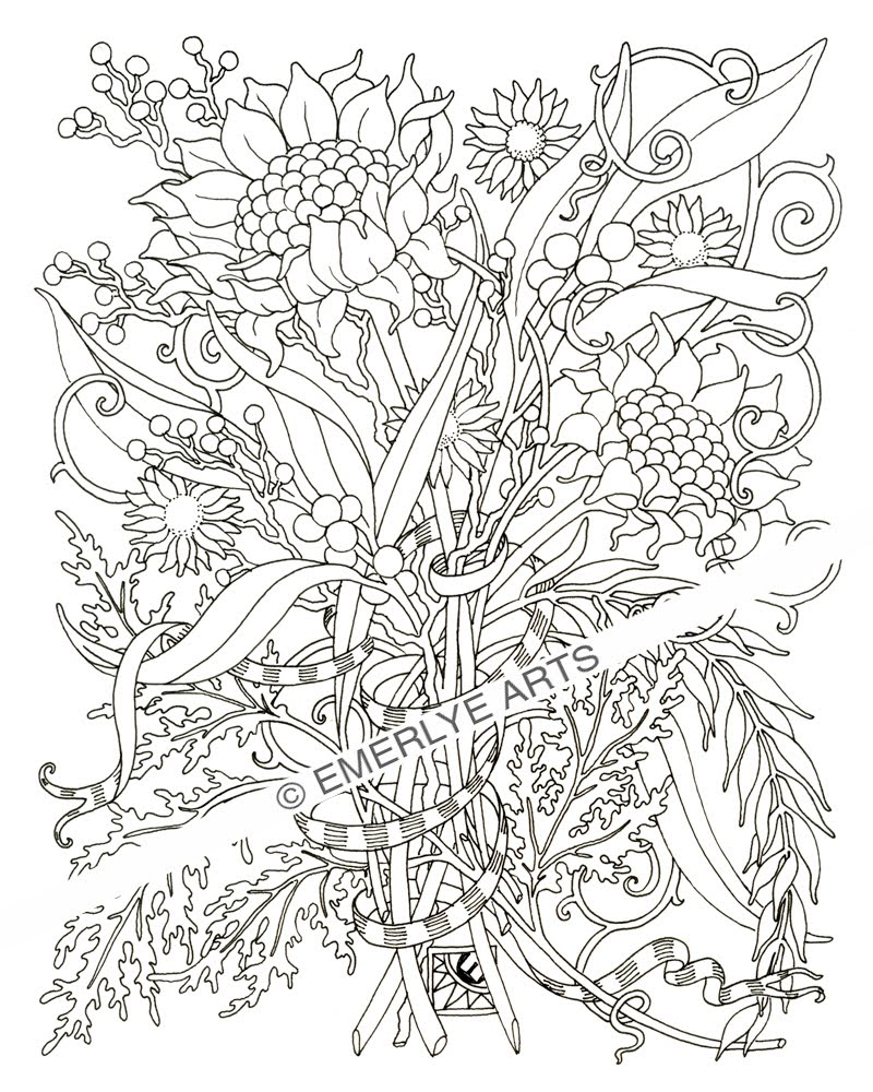800x1000 Adult Coloring Pages Flowersfree Coloring Pages For Kids Free
