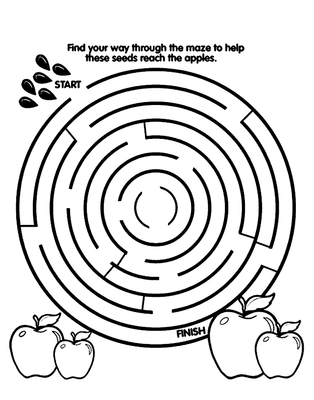 Coloring Pages And Mazes