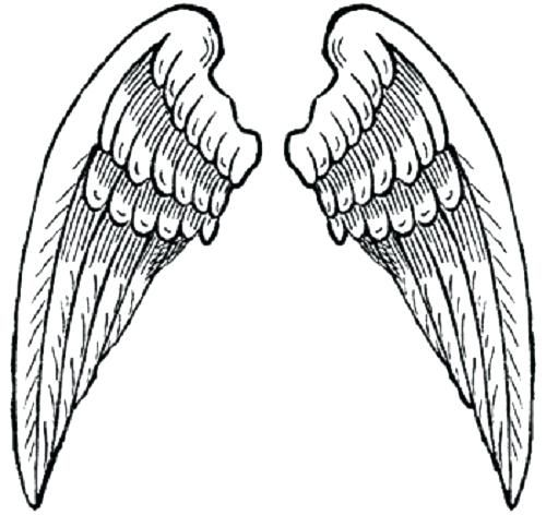 500x472 Angel Wings Coloring Pages Heart With Wings Coloring Page Free