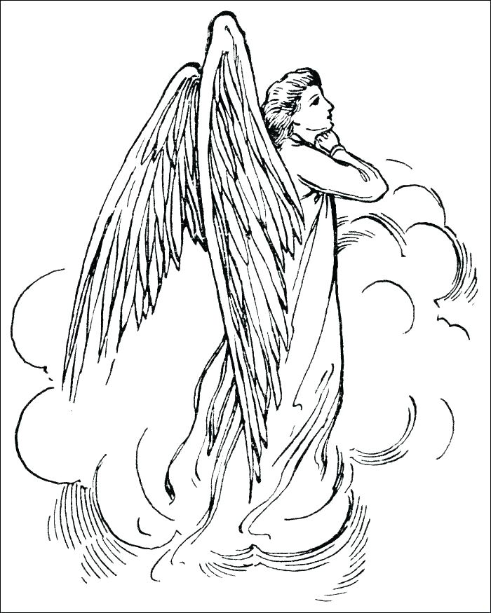 700x875 Angels Coloring Pages Print Free Angel Coloring Pages Angels