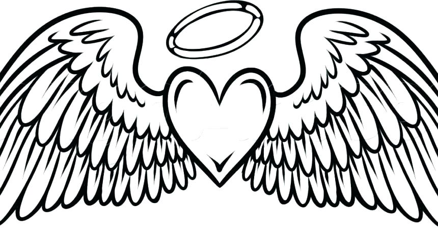 860x450 Coloring Pages For Print Angel Wings Coloring Pages Remarkable