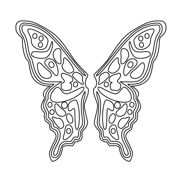 600x600 Free Angel Wings Printable Fairy Wings Coloring Sheet, Butterfly