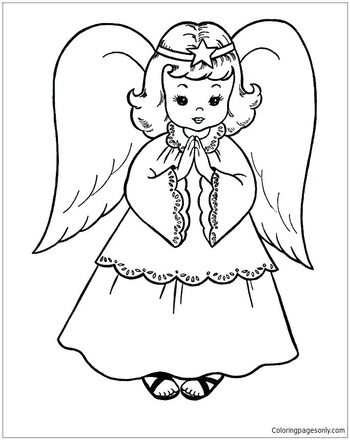 683x859 Free Printable Angel Wings Pattern Free Angel Coloring Pages