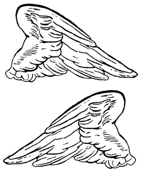 600x736 Wing Coloring Pages Angel Wings Colouring Pages Nightwing