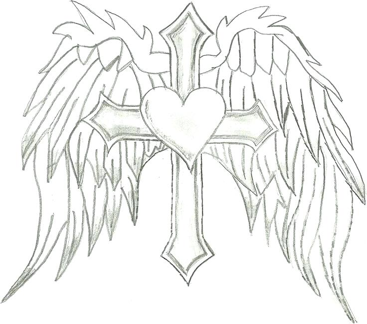 736x649 Angel Wings Coloring Pages Angel Wings Coloring Page New Hearts