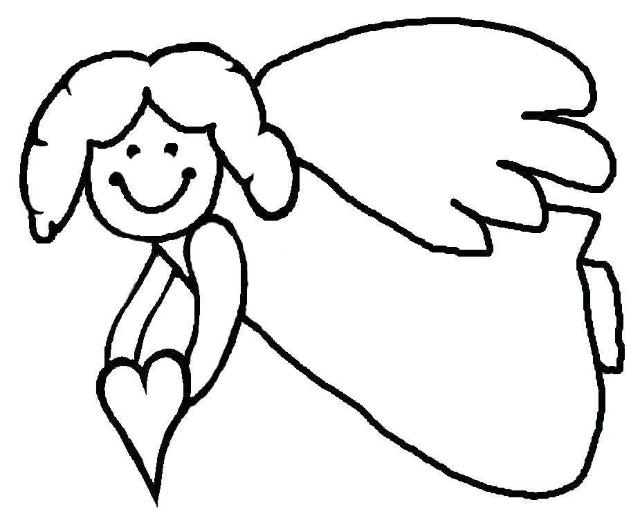 925x759 Angel Wings Coloring Pages Angels Coloring Pages Print Plus Angel