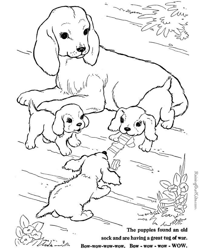 670x820 Coloring Pages Animals And Their Babies