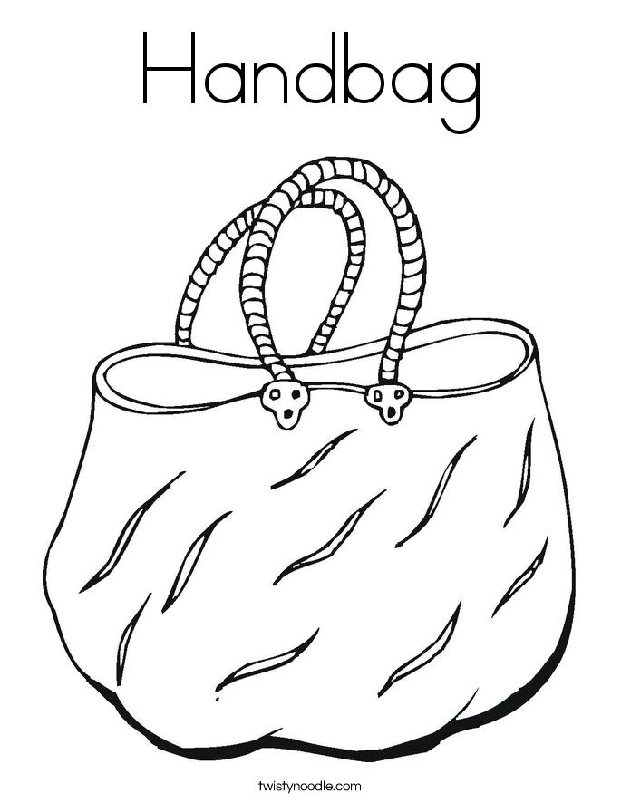 685x886 Handbag Coloring Page
