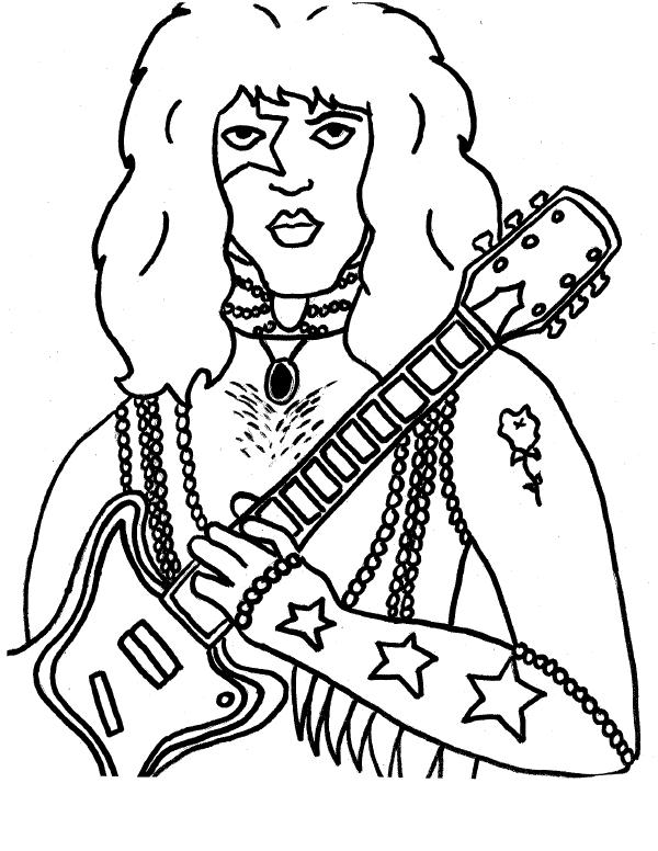 600x776 Kiss Coloring Pages Kiss Coloring Pages The Band Kiss Free