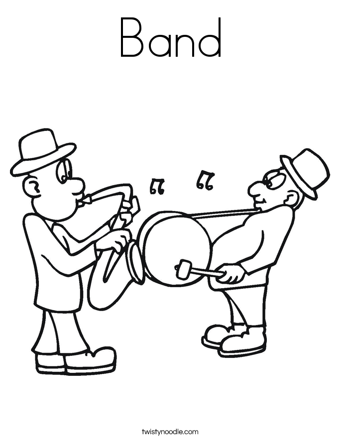 685x886 Band Coloring Page