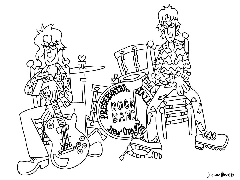1024x768 Rock Band Coloring Pages