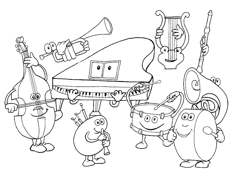 800x600 Stylish Design Music Coloring Pages Fresh Beat Band Free Musical