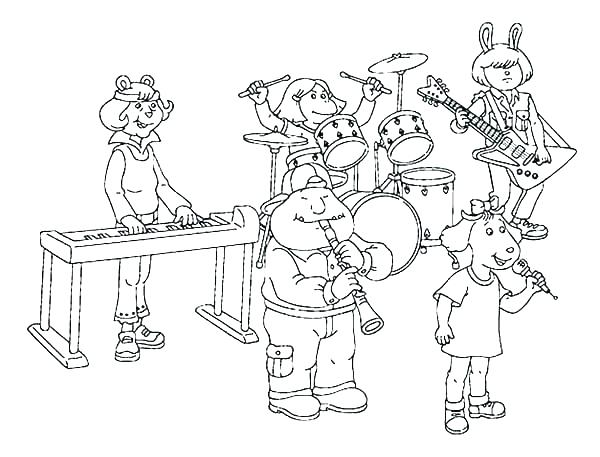 600x457 Marching Band Coloring Pages