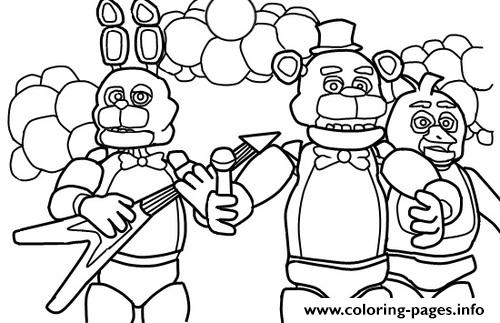 500x323 Five Nights At Freddys Fnaf Music Band Coloring Pages Printable