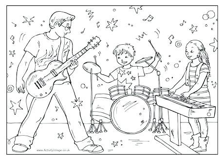 460x325 Fresh Beat Band Coloring Pages Father S Day Colouring Co Intended