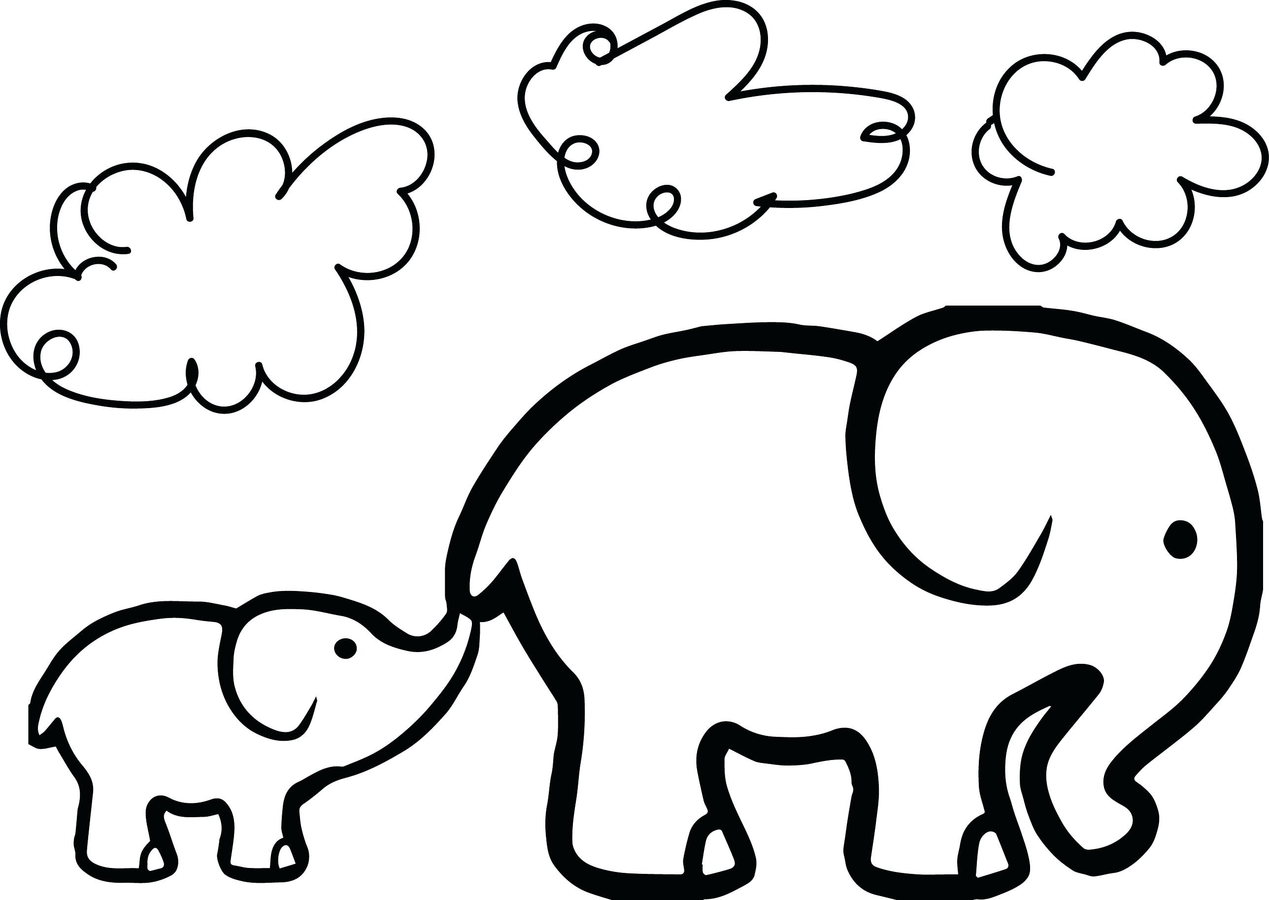 2576x1826 Elephant Head Adult Antistress Coloring Page Black White Hand