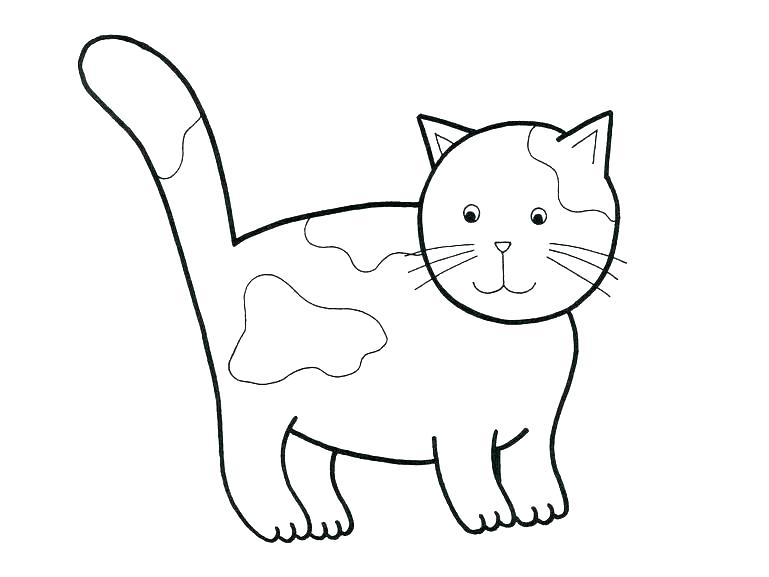 769x577 Cats Coloring Pages Black Cat Page Splat The Printable Free