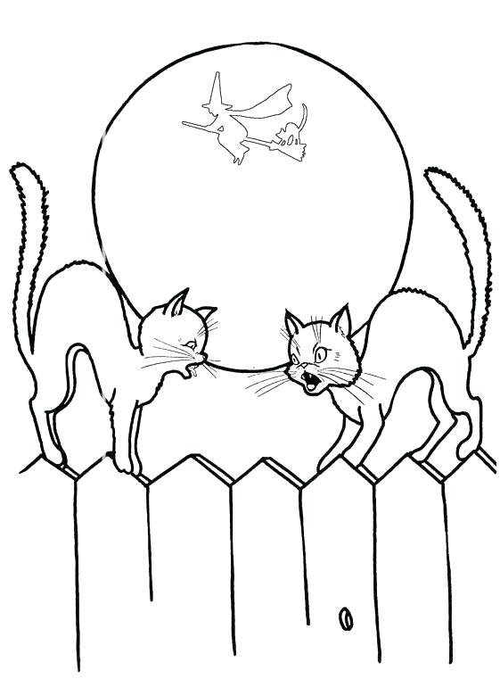 561x770 Disney Halloween Coloring Pages Pumpkin Black Cat Coloring Pages
