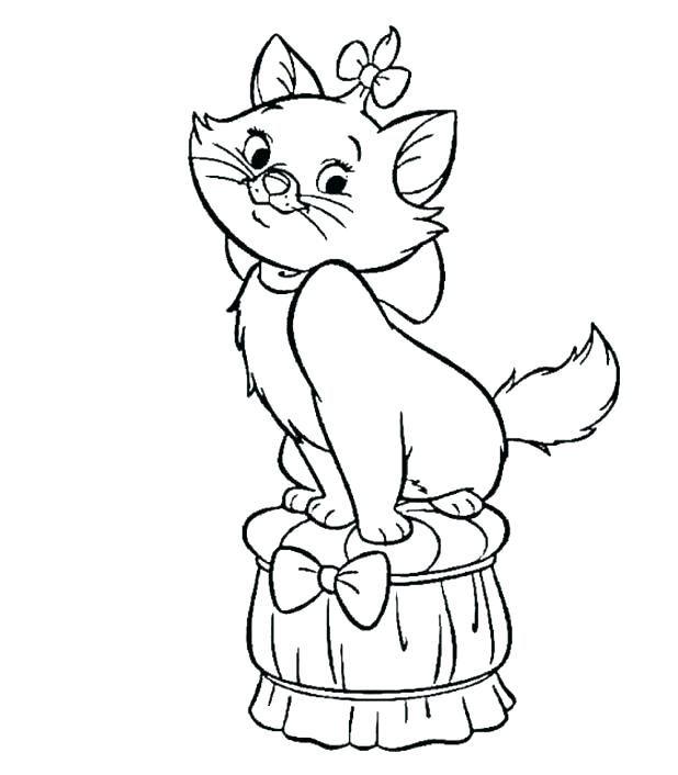 618x706 Black Cat Coloring Pages