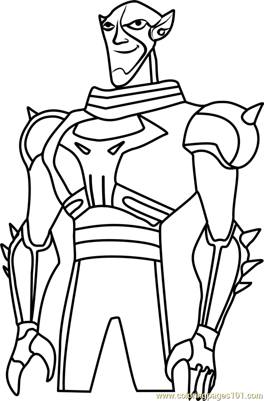 528x800 Brother Blood Coloring Page