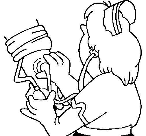 505x470 Measuring Blood Pressure Coloring Page