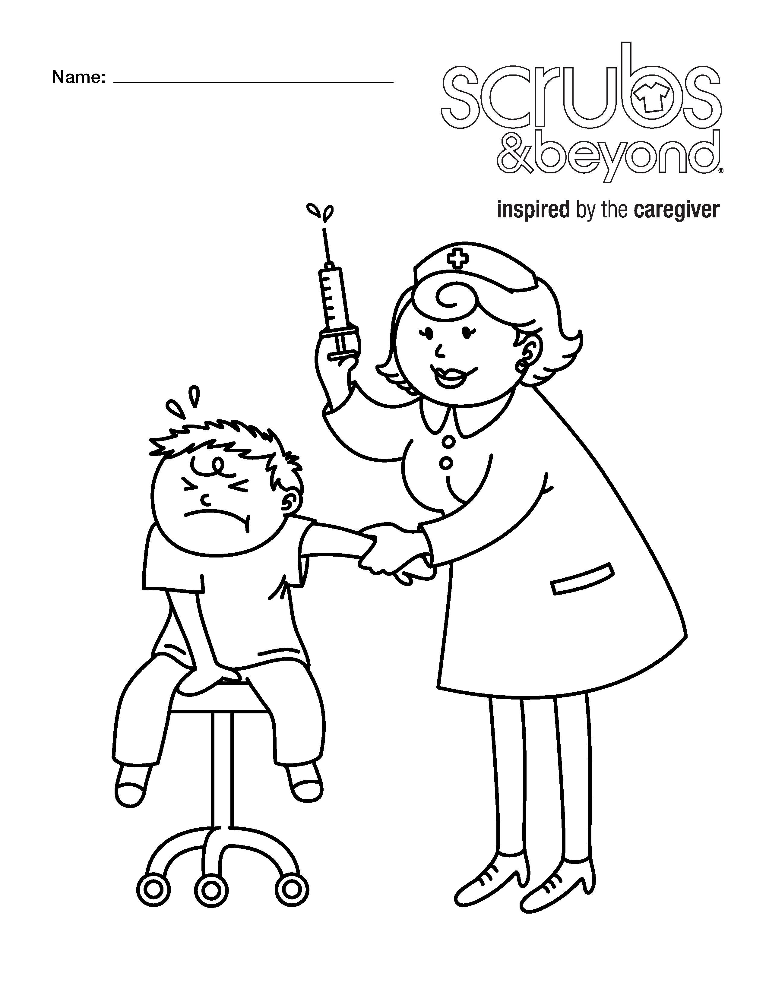 2550x3300 Nurse Ckecking Blood Pressure Coloring Pages Hellokids Com