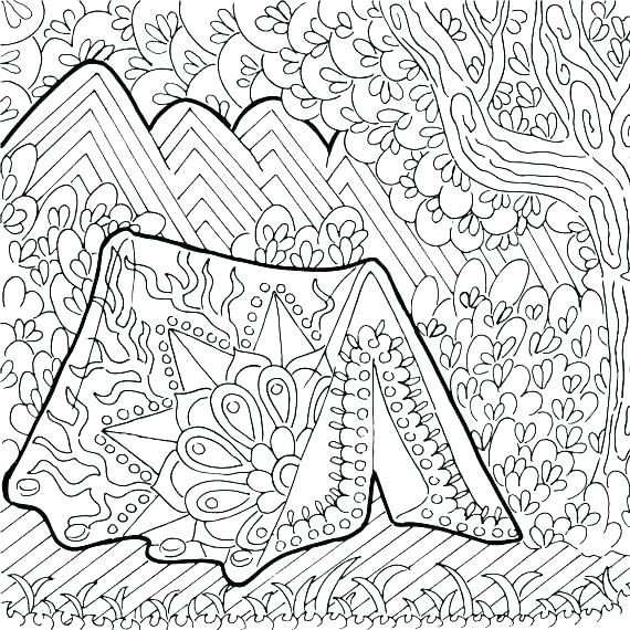 570x570 Camping Coloring Pages Camping Coloring Pages To Print Camping