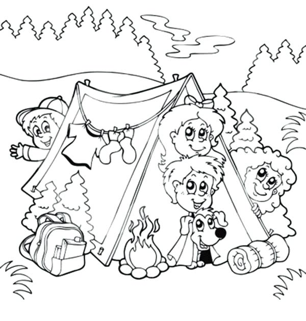 600x630 Camping Coloring Pages Simple Camping Coloring Sheets Camp