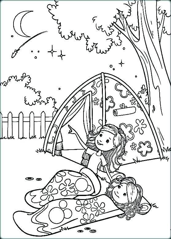 557x778 Camping Coloring Pages To Print Travel Coloring Pages Camping