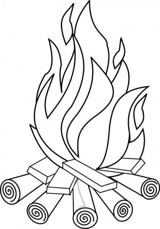 520x743 Camping Coloring Pages And Sheets For Adults And Kids Campfires