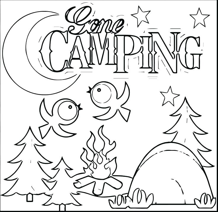 736x717 Camping Coloring Sheets Backpack Coloring Page Camping Pages Free