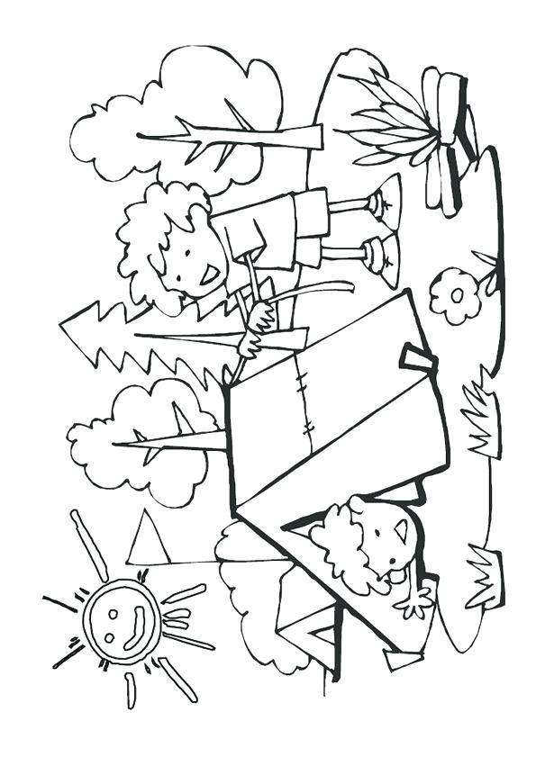 595x841 Camping Themed Coloring Pages Camping Themed Coloring Pages Best