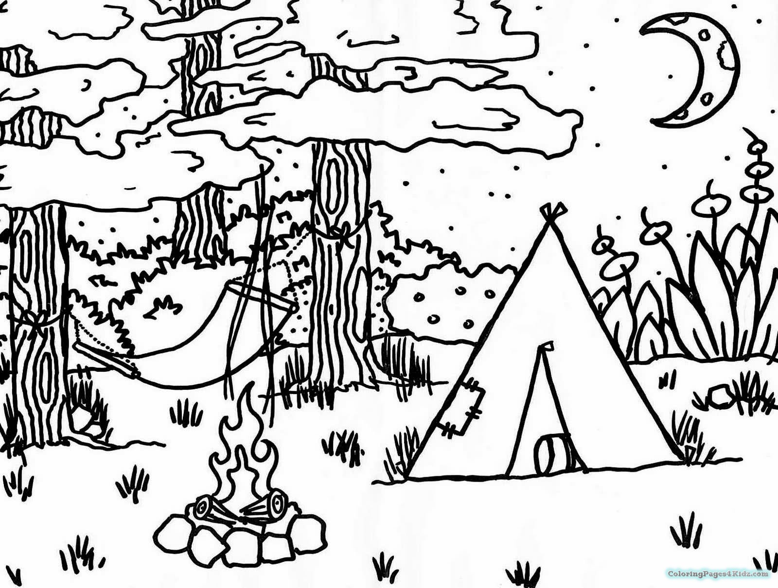 1600x1210 Free Preschool Camping Theme Coloring Pages Coloring Pages For Kids