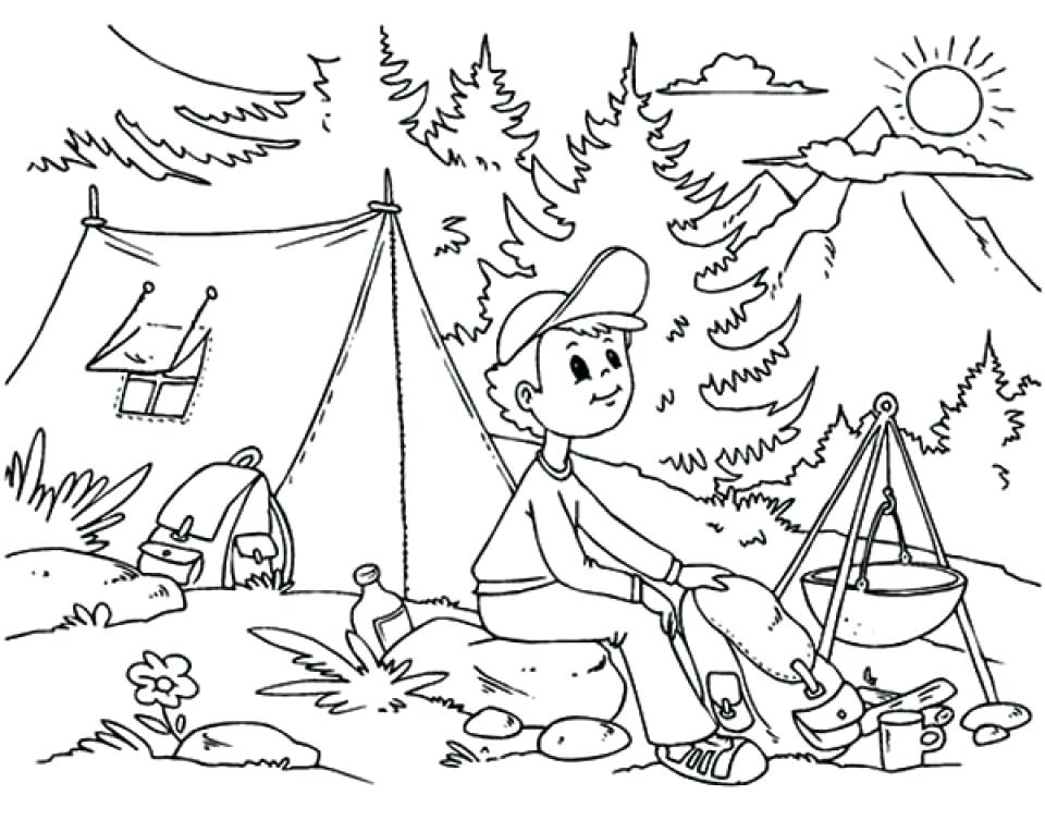 960x753 Fresh Camping Coloring Pages And Get This Printable Camping