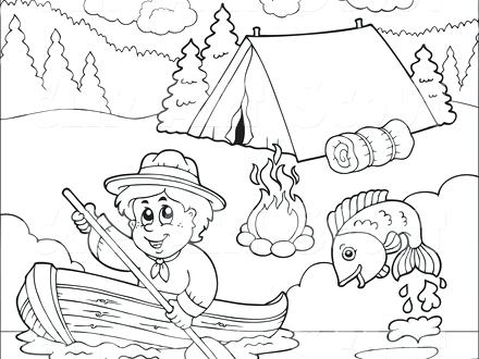 440x330 Summer Camping Colouring Pages Coloring Color For Kids Family Page