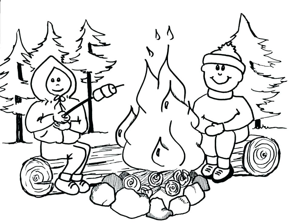 960x741 Camping Coloring Page Outdoor Coloring Pages Outdoor Coloring