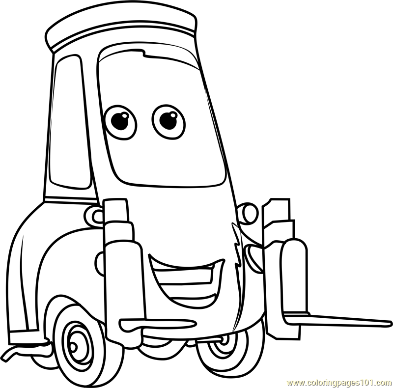 800x790 Guido From Cars Coloring Page