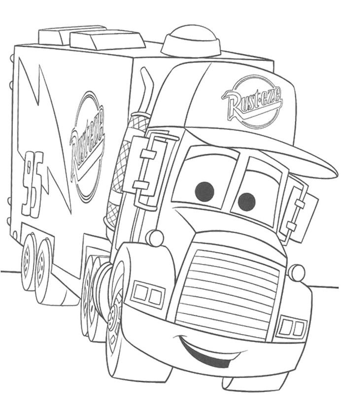 700x842 Pixar Truck Coloring Page Coloring Page Kids
