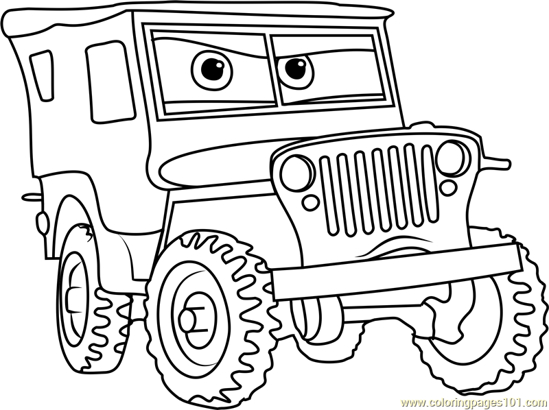 800x598 Sarge From Cars Coloring Page