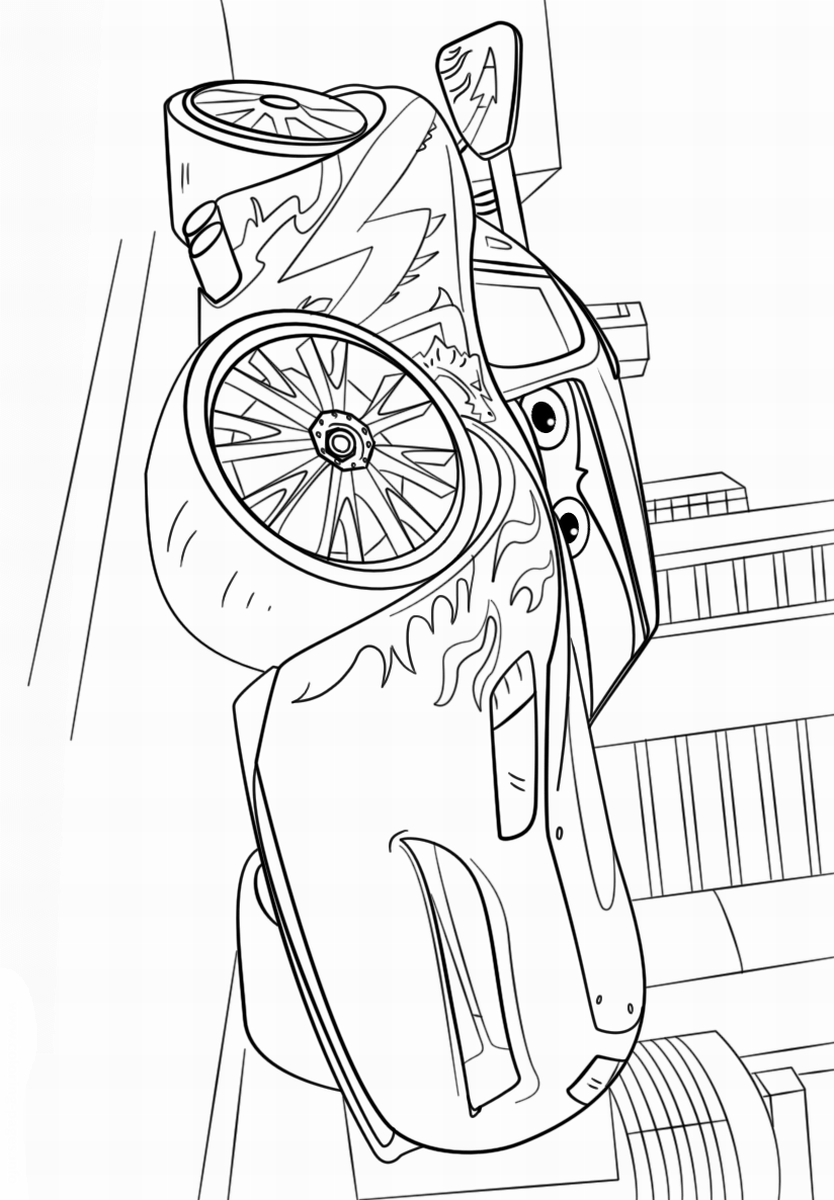 834x1200 Cars Coloring Pages